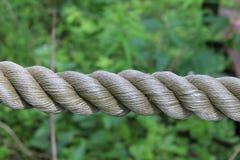 Corde en spirale tressée de coton Photo libre de droits