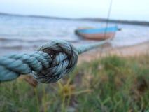 Corde et bateau Image libre de droits