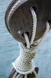 Corde et poulie de bateau Image libre de droits