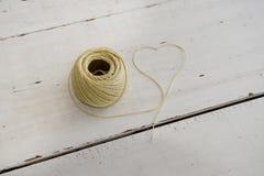 Corde formant la forme de coeur Image stock
