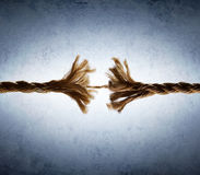 Corde frangée dans la tension photos libres de droits