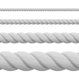 Corde grise d'épaisseur de ficelle différente Image stock