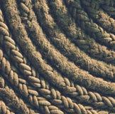 Corde grunge, fond de corde, texture de corde Images libres de droits