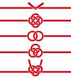 Corde japonaise décorative faite à partir du papier tordu Illustration Libre de Droits