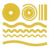 Corde jaune Photographie stock libre de droits
