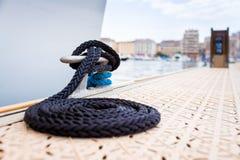 Corde nautique d'amarrage Photo stock