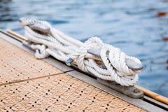 Corde nautique d'amarrage Image libre de droits