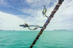 Corde nautique soufflant dans la brise images libres de droits
