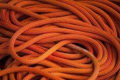 Corde orange pour s'élever photos stock