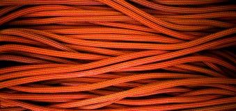 Corde orange pour s'élever et s'élever Image libre de droits