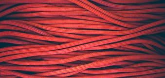 Corde orange pour s'élever et s'élever Photographie stock