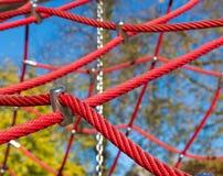 Corde rosse immagini stock libere da diritti