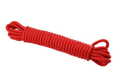 Corde rouge Photographie stock