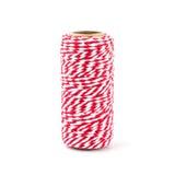 Corde rouge et blanche d'isolement sur le fond blanc Photo stock