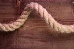 Corde sur le bois photographie stock libre de droits