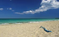 Corde sur le sable Photographie stock libre de droits