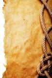 Corde sur le vieux papier Image libre de droits