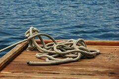 Corde sur un dock Image stock