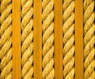 Corde tordue et planches en bois Photo stock