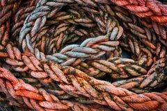 Corde tressée de mer image libre de droits
