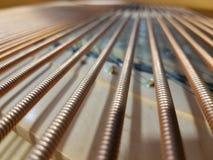 Corde vaghe del piano di concerto Fotografia Stock