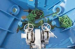 Corde verte principale de guindeau/treuil  Photographie stock libre de droits