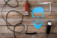 Corded electric clippers stock photography