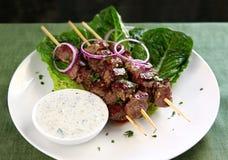 Cordeiro Kebabs imagens de stock