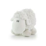 Cordeiro macio do branco do brinquedo Foto de Stock Royalty Free