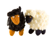 Cordeiros Crocheted Fotos de Stock