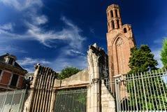 Cordeliers,图卢兹,法国的教会的废墟 免版税库存照片