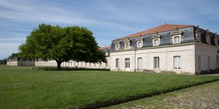 Corderie Royale de Rochefort, de geschiedenis van Frankrijk van deze historische plaats stock fotografie
