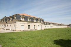 Corderie Royale Located i mitten av Rochefort Frankrike på bankerna av den Charente floden royaltyfria foton