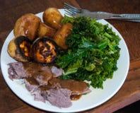 Cordero de carne asada Fotografía de archivo libre de regalías