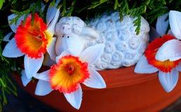 Cordero feliz de Pascua Foto de archivo