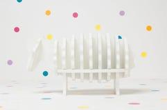 Cordero hecho en casa del juguete de los niños Imágenes de archivo libres de regalías