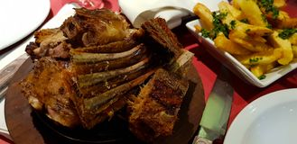 Cordero Patagonico Patagonian lamb barbecue royalty free stock images