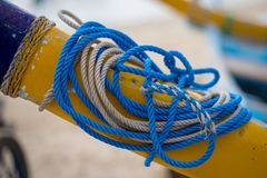 Cordes bleues et blanches Photographie stock