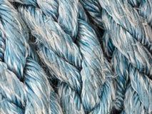 Cordes démodées de voilier de marina de port Photo stock