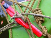 Cordes d'amarrage et de remorquage Photographie stock libre de droits