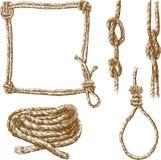 Cordes dans diverses formes Images libres de droits