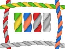 Cordes de brosses de cadre Photos libres de droits