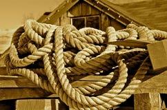 Cordes de l'industrie de canotage Photographie stock libre de droits