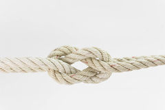 Cordes de recourbement ensemble sur le fond blanc Photo libre de droits