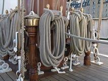 Cordes de voile de bateau Image libre de droits
