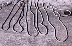 Cordes des bateaux à voile Photographie stock libre de droits