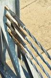 Cordes en acier avec le plat de bride de production Photographie stock