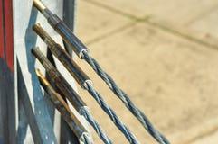 Cordes en acier avec le plat de bride de production Photo stock