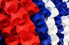 Cordes en plastique de ruelle de piscine image stock