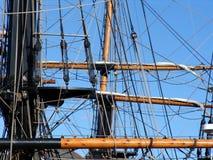 Cordes et calage sur le tallship Photo libre de droits
